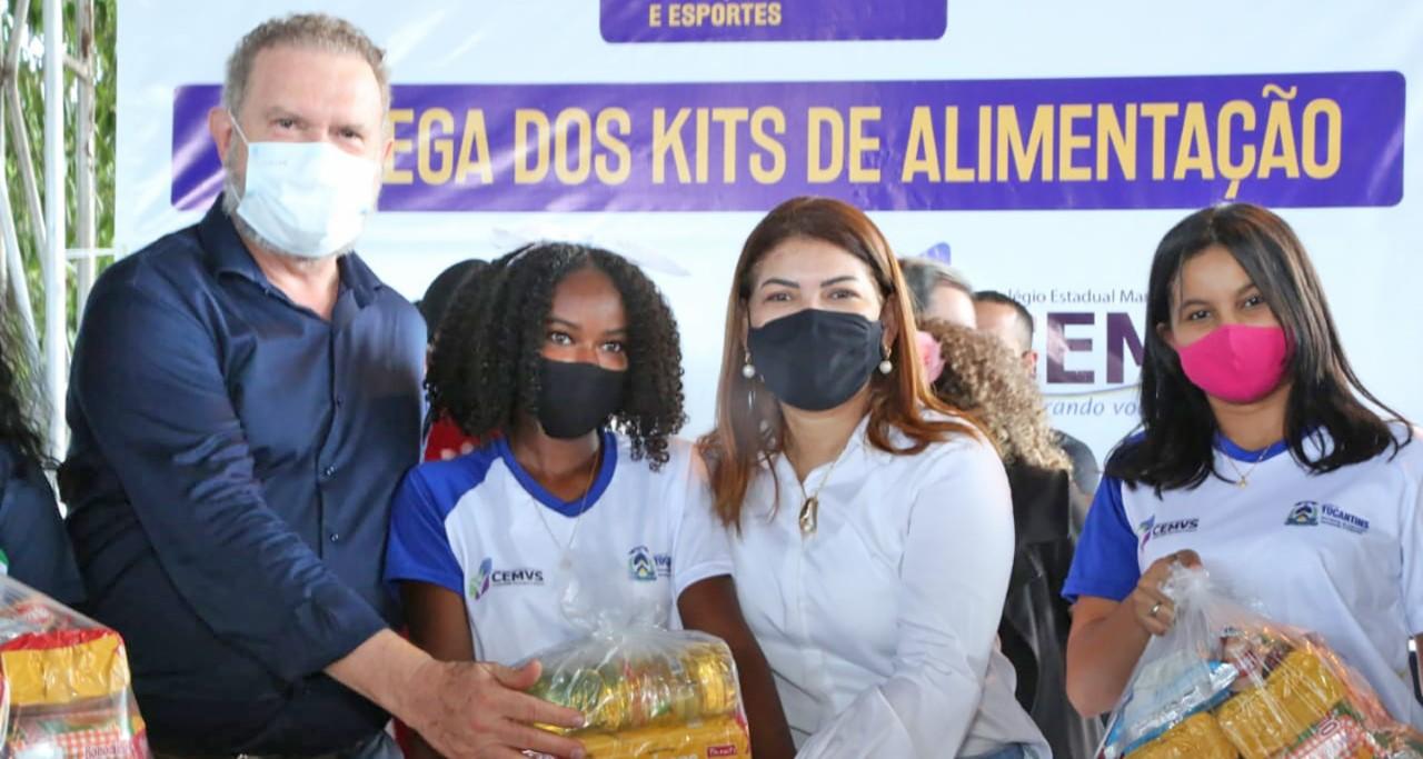 Governador Carlesse inicia entrega de kits de alimentos na região do Bico do Papagaio