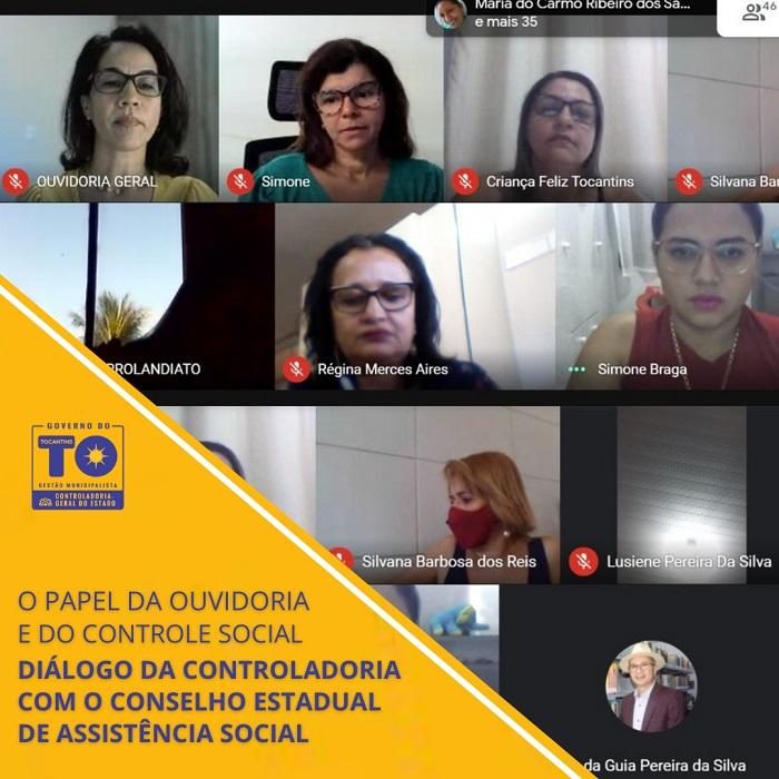 Controladoria dialoga com Conselho Estadual de Assistência Social sobre papel da ouvidoria e do controle social