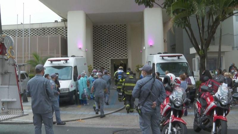 Incêndio atinge Hospital Pérola Byington em São Paulo