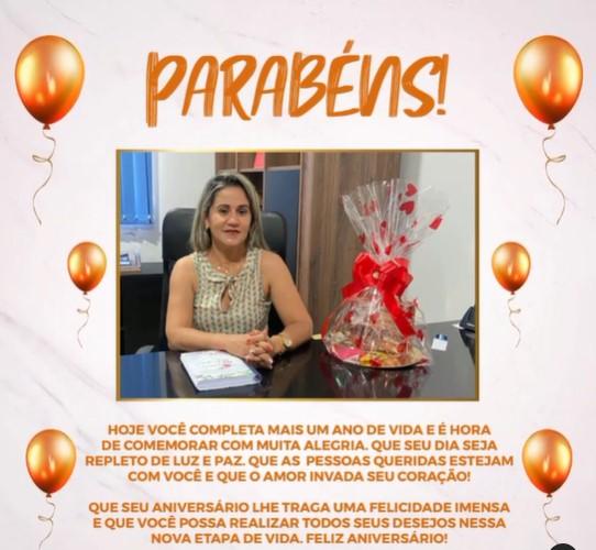 Prefeita de Goianorte faz aniversário e recebe homenagem de servidores