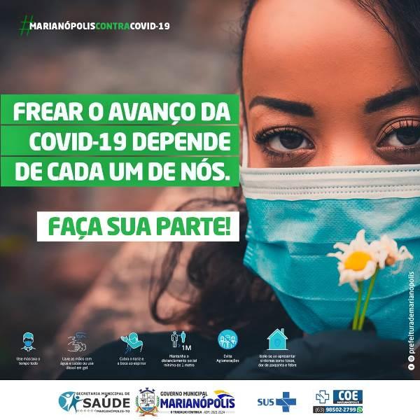 Prefeitura de Marianópolis segue vacinando e reforça medidas de prevenção à Covid-19