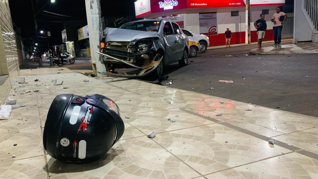 Acidente grave envolvendo moto e carro na região central de Paraíso deixa dois feridos