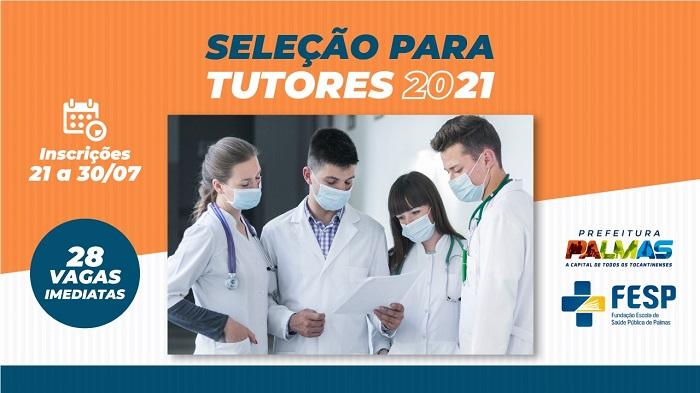 Fundação Escola de Saúde Pública de Palmas abre processo seletivo para tutores de residências em saúde