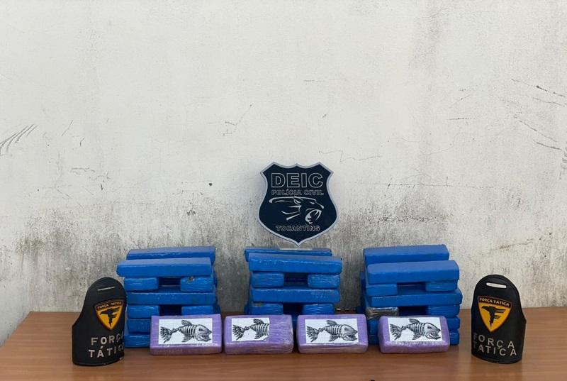 Polícia Civil apreende 34 kg de entorpecentes e prende 4 pessoas por tráfico de drogas em Gurupi