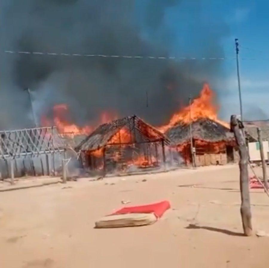 Incêndio em aldeia indígena deixa quatro casas destruídas na Ilha do Bananal