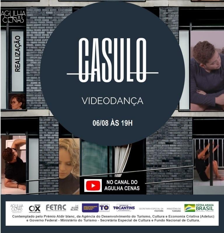 Projeto de Videodança Casulo será exibido nesta sexta-feira,06, com apoio Adetuc
