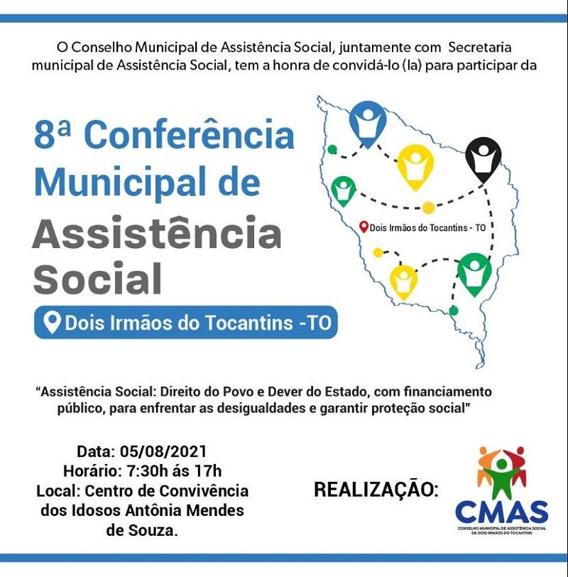 Prefeitura de Dois Irmãos convida população para a 8ª Conferência Municipal de Assistência Social