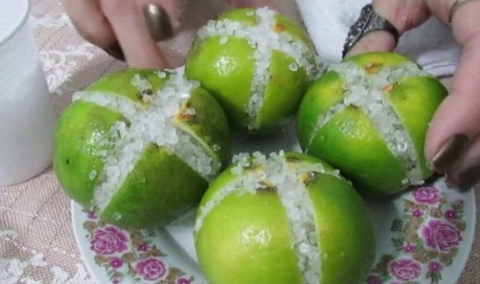 Limão cortado em cruz com sal grosso: saiba para que serve e nunca mais deixará faltar