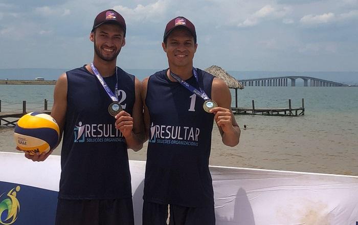 Victor Hugo e Bruno Nunes são campeões da 2ª etapa do Circuito Tocantinense de Vôlei de Praia