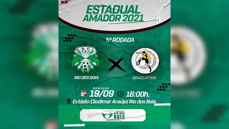 Tocantinense Amador: Rio dos Bois enfrenta o Araguatins na última rodada da 1ª fase