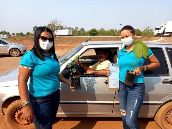 Blitz educativa em Rio dos Bois distribui mudas de árvores e conscientiza para a preservação do meio ambiente