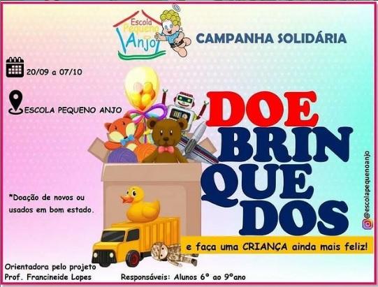 Escola Pequeno Anjo promove campanha solidária com arrecadação de brinquedos em Paraíso-TO