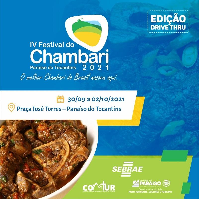 Festival do Chambari será lançado no formato drive-thru em Paraíso