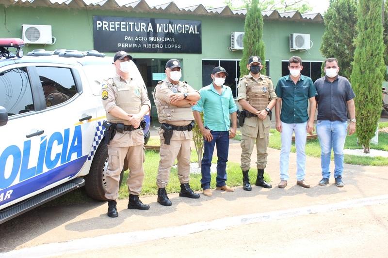 Governo de Dois Irmãos-TO recebe visita do ten-cel Denyure Cavalcante, comandante do 8º BPM