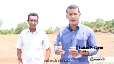 Prefeitura de Marianópolis regulariza terreno para construção de escola no assentamento Piracema