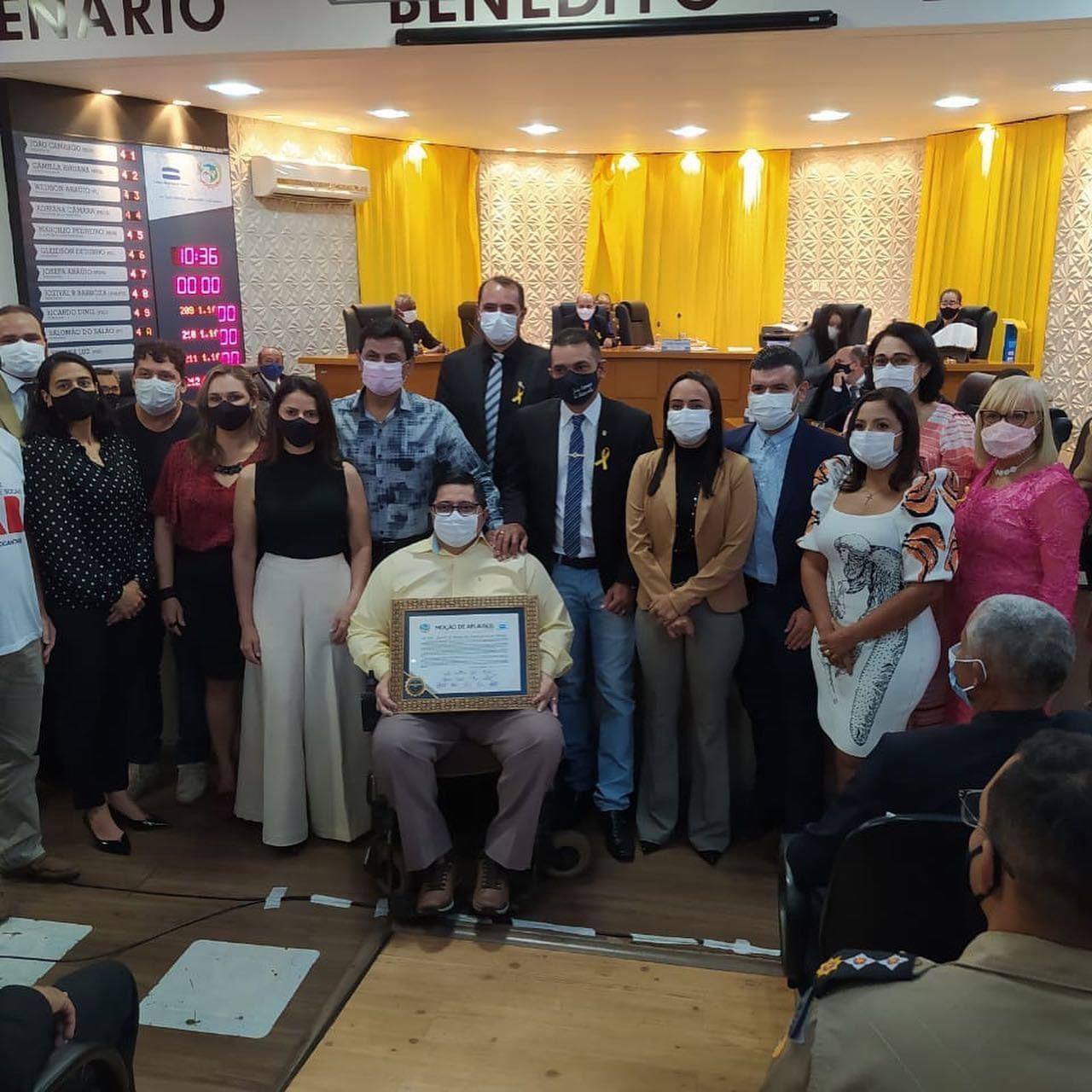 Representante da classe empresarial no COE de Paraíso, Acip agradece homenagem recebida pela Câmara Municipal