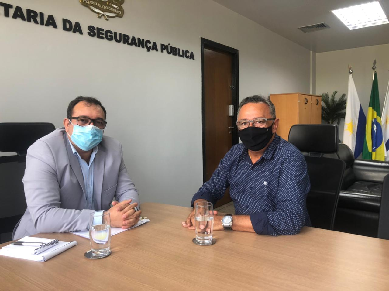 Secretário de Segurança Pública recebe presidente da Agência de Segurança Transporte e Trânsito de Araguaína
