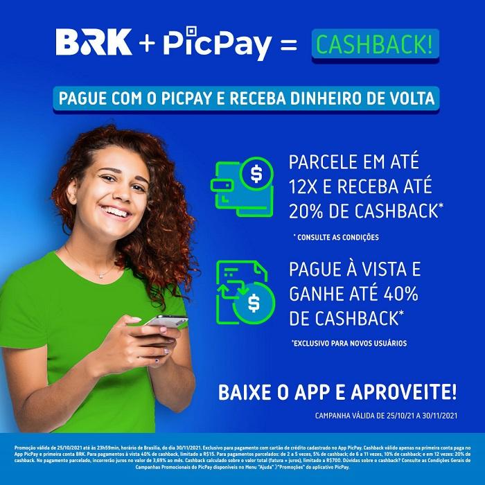 Parceria entre BRK Ambiental e PicPay oferece dinheiro de volta no pagamento de faturas por meio da plataforma