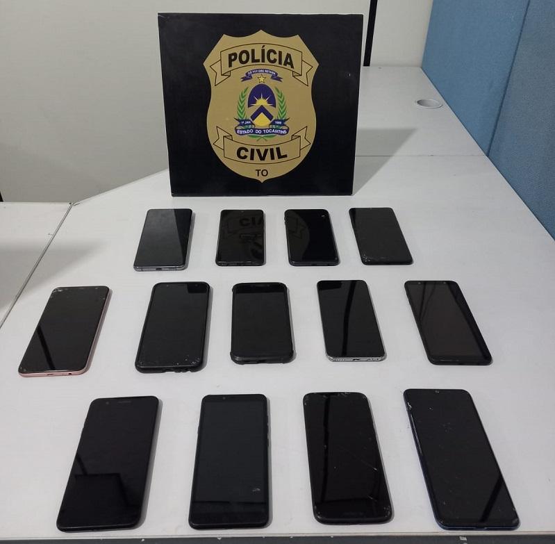 Polícia Civil recupera e devolve aos verdadeiros proprietários 13 aparelhos celulares em Palmas