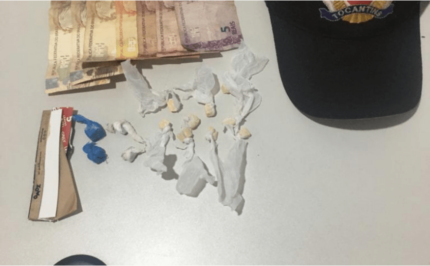 PM prende dois suspeitos de tráfico de entorpecente em Santa Fé do Araguaia