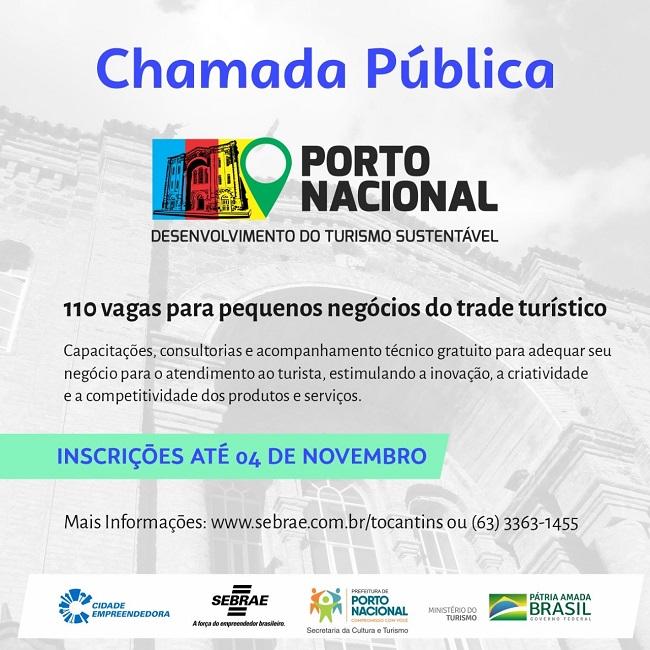 Inscrições para o projeto de turismo em Porto e Luzimangues foram prorrogadas
