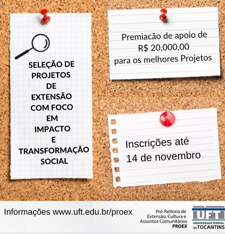 Edital de extensão oferta apoio de R$20 mil para projetos de impacto social