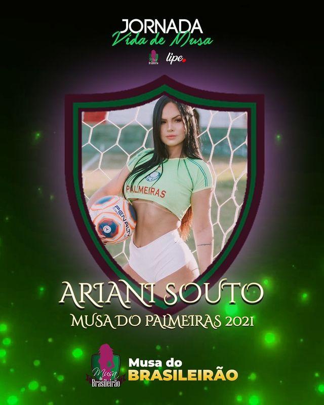 Ariani Souto é eleita Musa do Palmeiras 2021