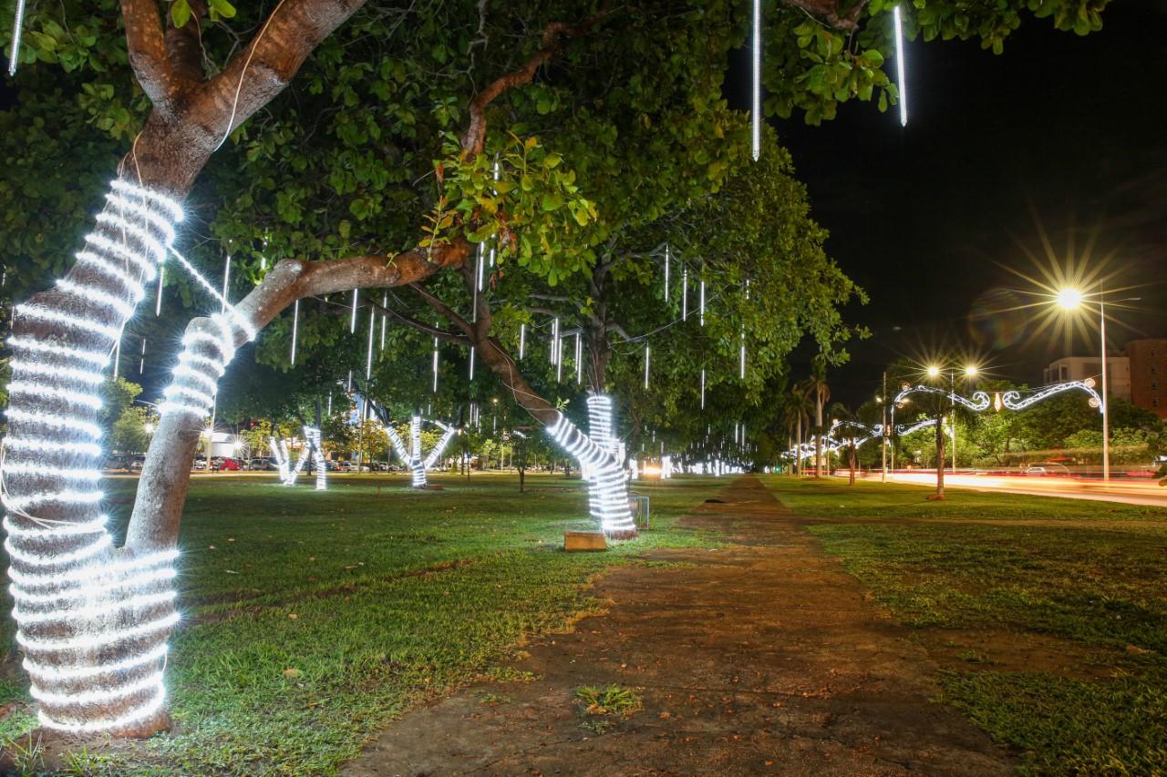 Luzes de Natal serão acesas em novembro na Capital