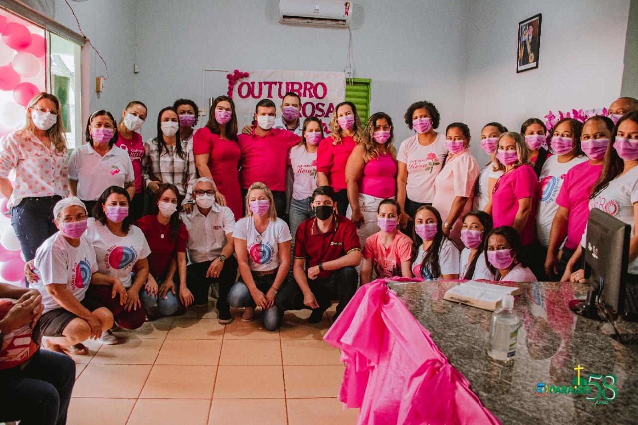 UBS do Setor Milena em Paraíso do Tocantins recebe ação do Outubro Rosa