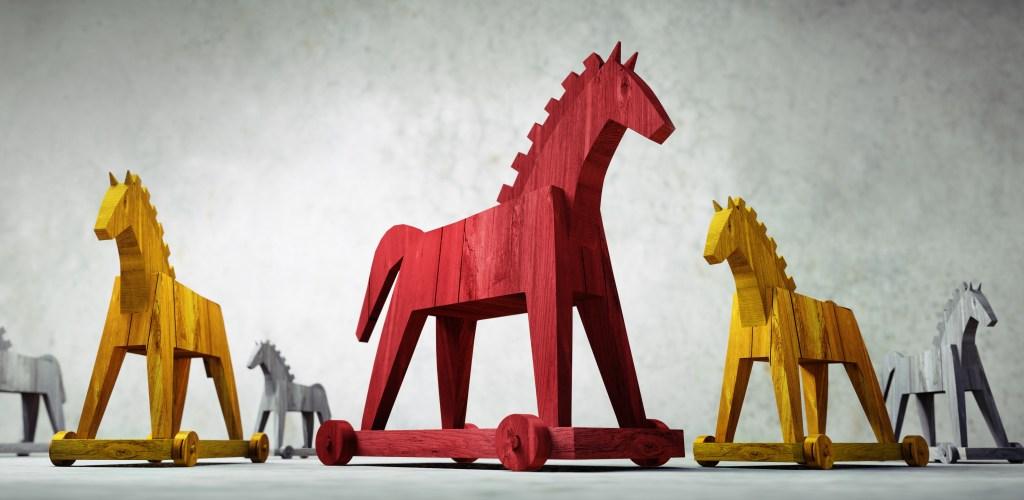 Trojan symbolisant le service pentesting