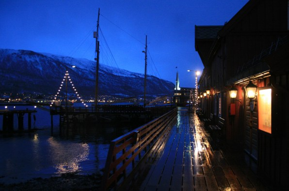 Polarmuseum pluvieux, Tromsø, décembre 2010