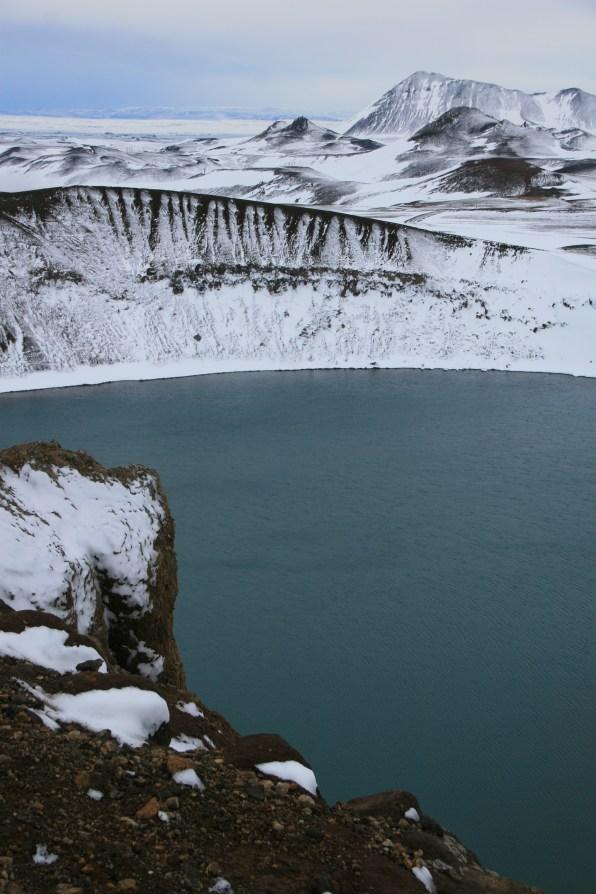 Krafla sous la neige, Islande, septembre 2012