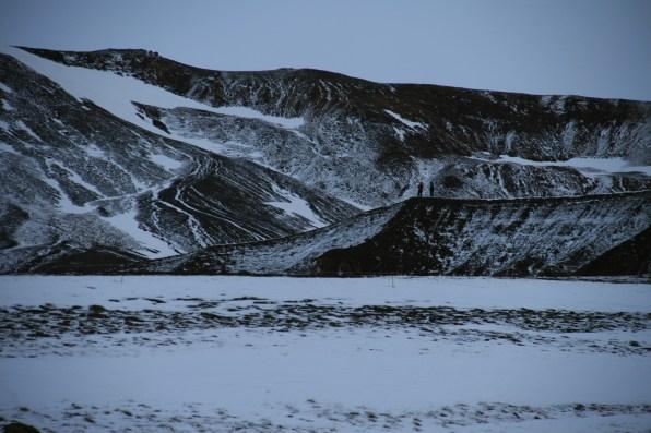Région du Nord Krafla sous la neige, Islande, septembre 2012
