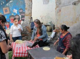 Demonstration of tortilla making, Puebla