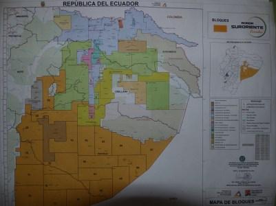 Concessions petrolières potentielles dans l'Oriente équatorien