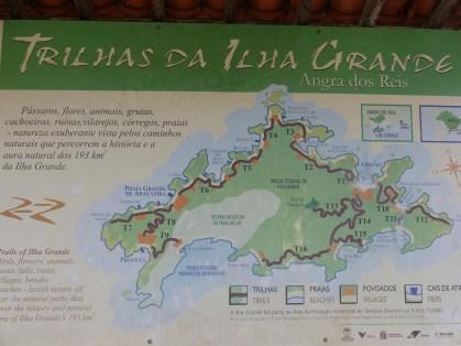 Ilha Grande com muitas trilhas