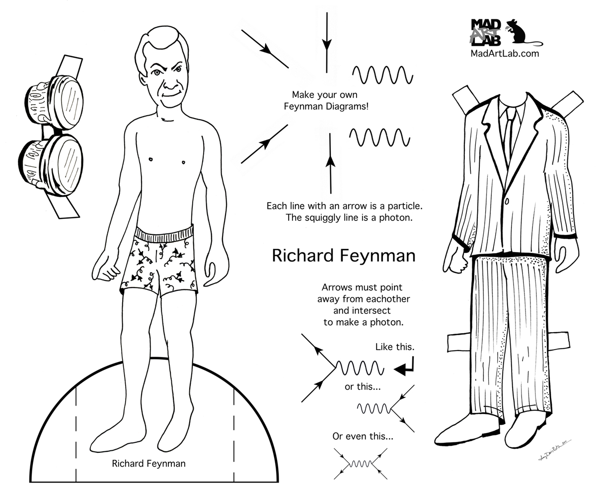 Scientist Paper Dolls ~ Science Storiented