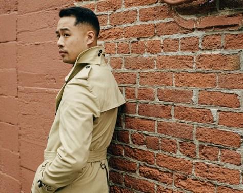 Khaki made-to-measure fall trench coats
