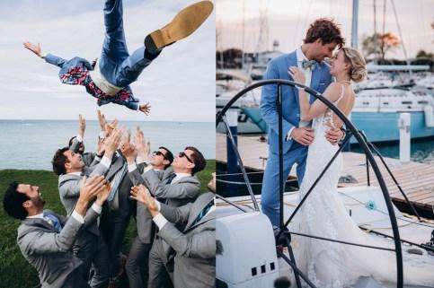 man wedding light blue suit