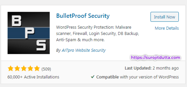 BulletProof WordPress Security PLugins