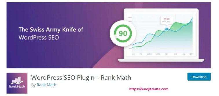 Rank Math Best Plugin For WordPress