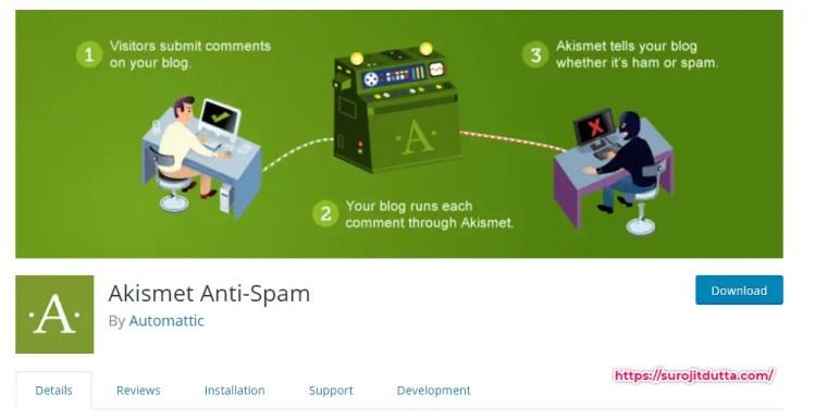 Akismet Best Plugin For WordPress Spam Comment