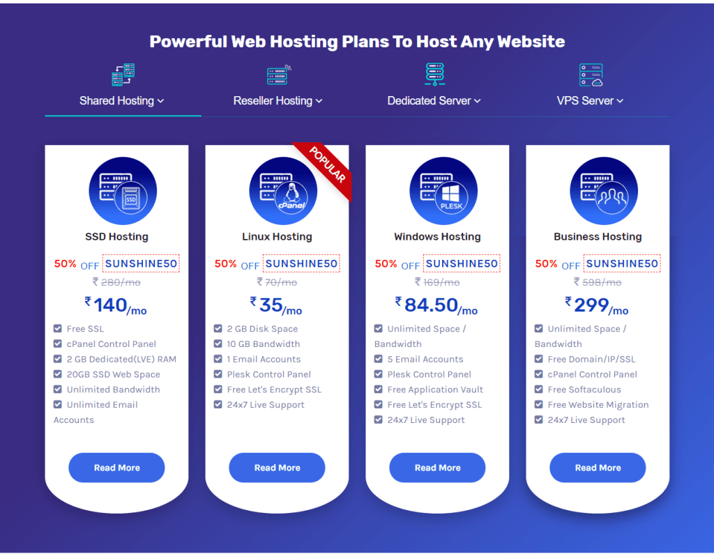 Hostriples Web Hosting Prices List- best Cheap Web Hosting Sites