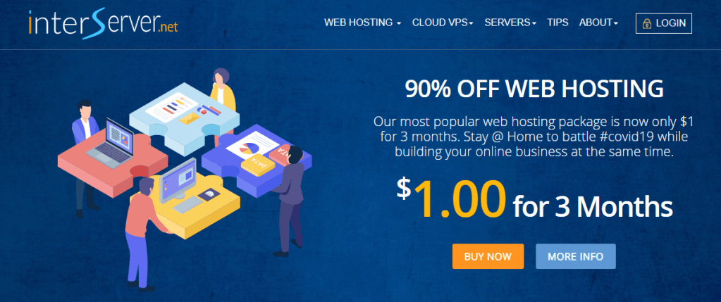 Interserver cheap web hosting service company