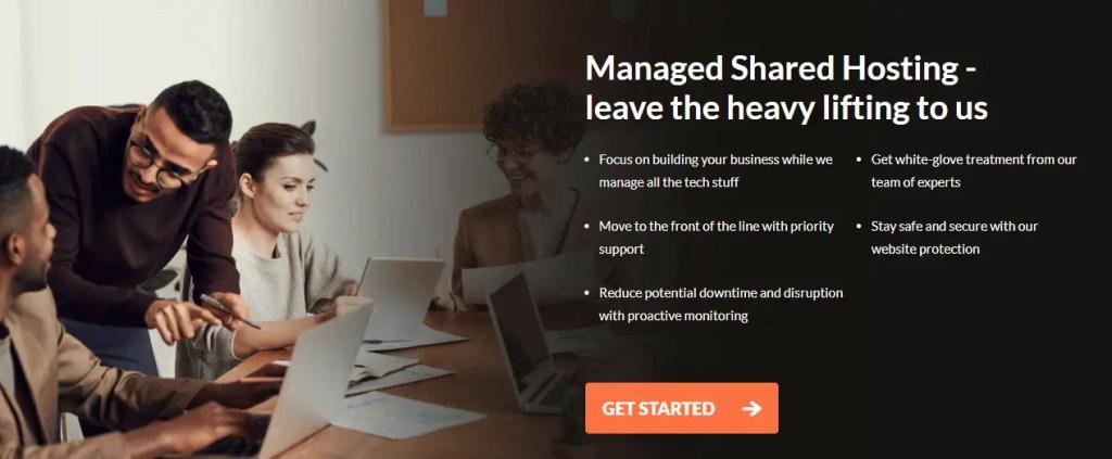 Managed Shared web hosting plans