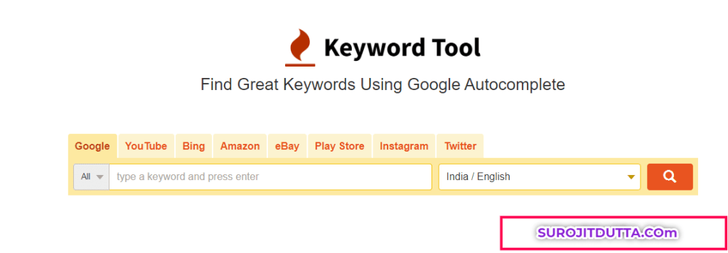 Keywordtool.io- Free Keyword Research Tools