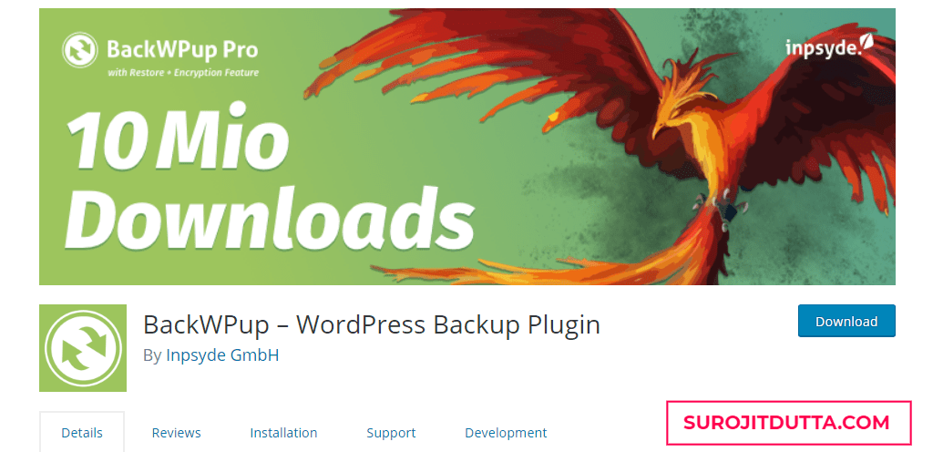 BackWPUp- Another WordPress Backup Plugins
