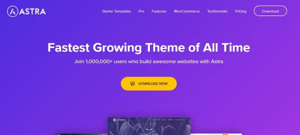 Astra- WordPress Free Themes For Blog