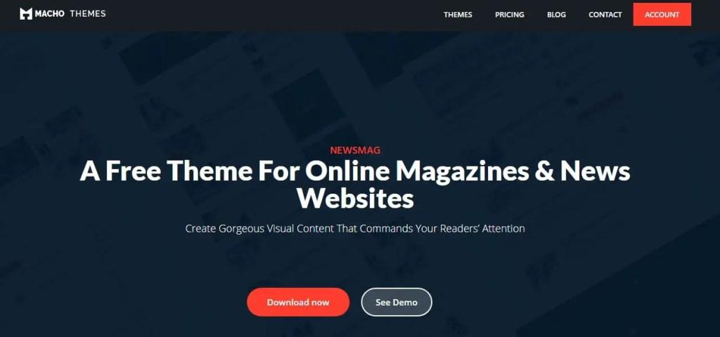 Newsmaglite- WordPress Free Themes For news Blog