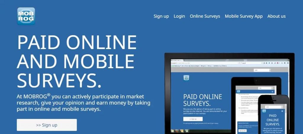 Mobrog- Online Surveys That Pay Cash